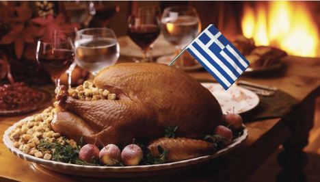 A Greek Thanksgiving Turkey.