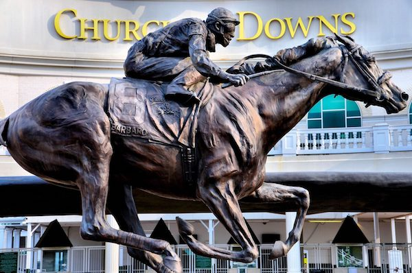 Barbaro Sculpture at Churchill Downs by Alexa King (Photo: Richard F. Ebert).