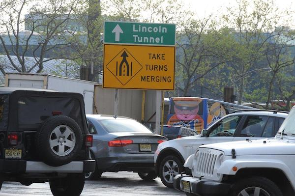 The Lincoln Tunnel: the hour-plus-long stop-and-go Manhattan slug fest.