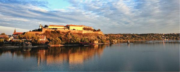 Petrovaradin Fortress, seen from across the Danube at Novi Sad.
