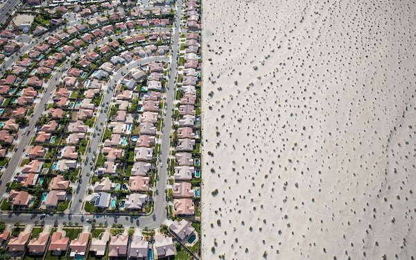 In time of drought, a housing development near Palm Springs (Photo: Damon Winter).