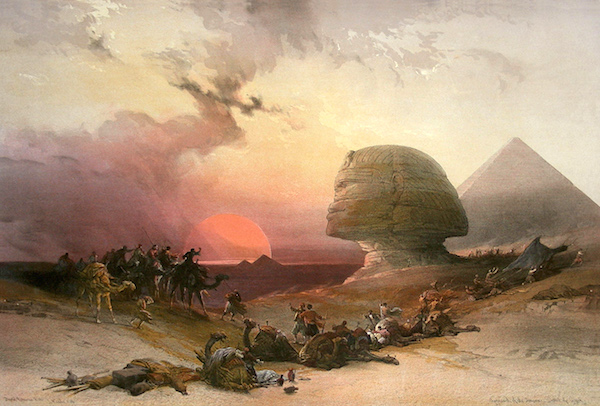 """""""Approach of The Simoon,"""" by David Roberts (1796–1864)."""