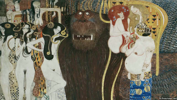 "Gustav Klimt's ""The Beethoven Frieze: Gorgons, The Giant Typhoeus, and Hostile Forces."""