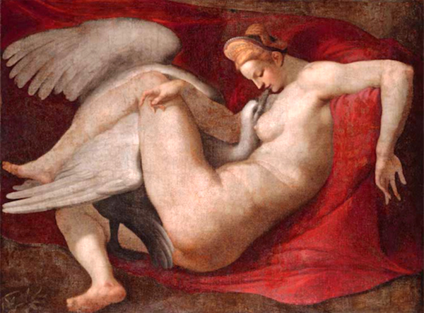 """Leda and the Swan,"" by Michelangelo, Bibliothèque nationale de France, Paris, France."