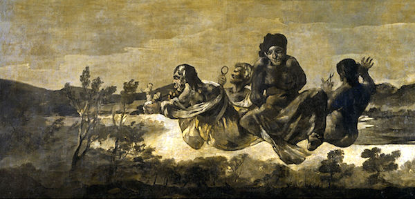 """Atropos/The Fates,"" by Francisco de Goya,  (1819-23), Museo del Prado."