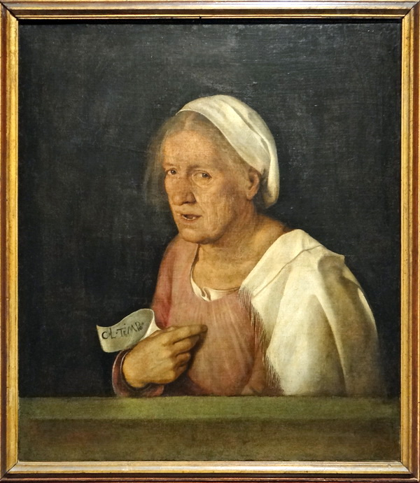 """Portrait of an Old Woman,"" by Giorgione, (1500-1510), Galleria dell'Accademia, Venice."