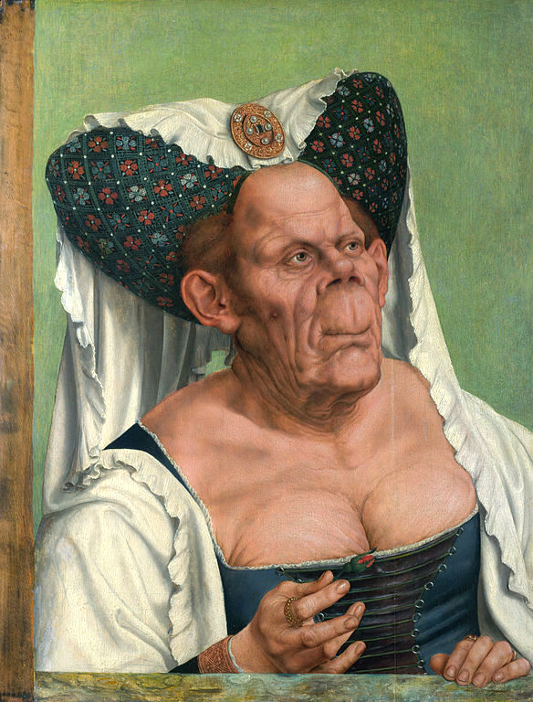 """An Old Woman,"" aka ""The Ugly Duchess,"" by Quinten Massys, (c.1513), National Gallery, London."