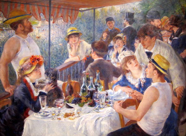 """Luncheon of the Boating Party,"" by Pierre-Auguste Renoir."