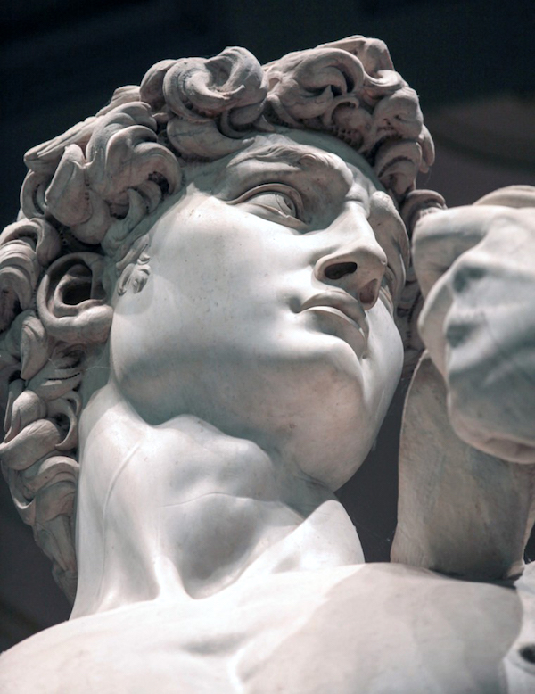 The head of David, by Michelangelo.