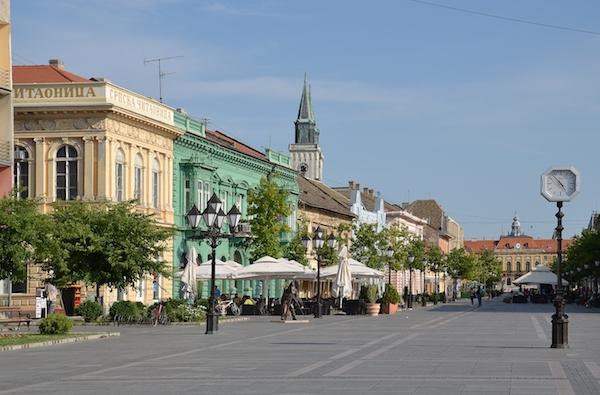 Main street, Sombor, Serbia.