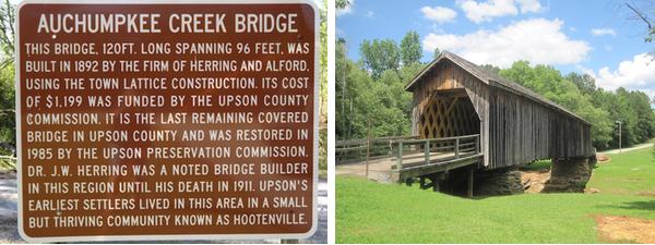 The Auchumpkee Creek Covered Bridge.