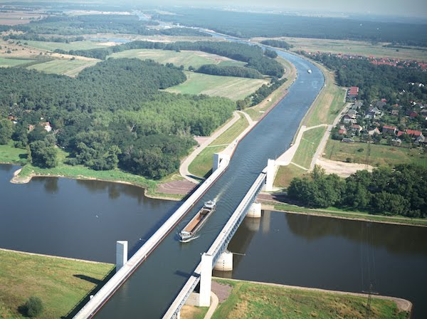 Magdeburg Water Bridge.