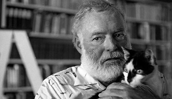 Ernest Hemingway, in old age.