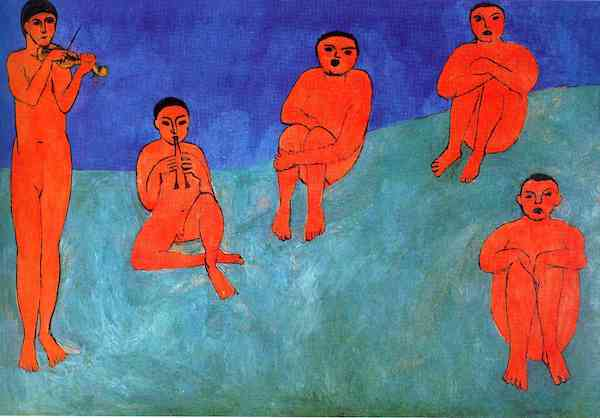 """Music,"" by Henri Matisse (1910), Hermitage Museum, Saint Petersburg, Russia."