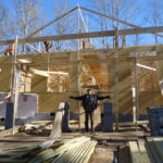 Dean, on our building site, in Pendleton SC.