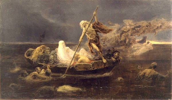 """The Boat of Charon,"" by Jose Benlliure y Gil, 1919."""