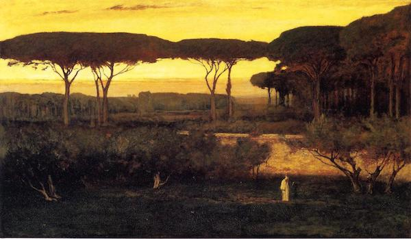 """George Inness, """"Pines and Olives at Albano,"""" 1873"""