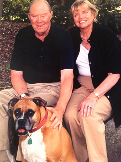 Tom and Terry, TNT, a dynamite couple, and dear Sheba, in Beaufort, South Carolina.