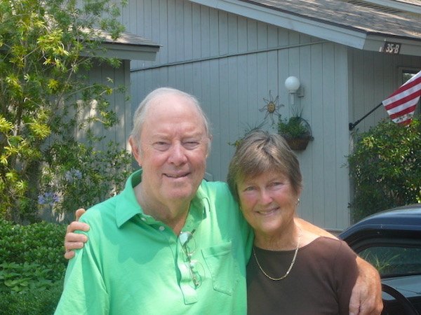 Tom and I in 2008, our last photo together.