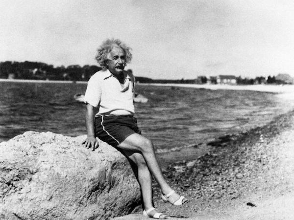 Einstein . . . at rest.