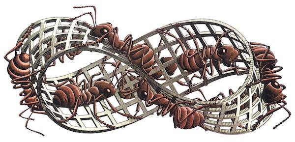 Möbius strip out of M.C. Escher.