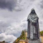 Statue of Giordano Bruno, by Ettore Ferrari, Campo de' Fiori, Rome, Italy.