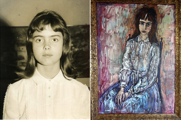 Bebe, at 11; and Orozco's first portrait of her.