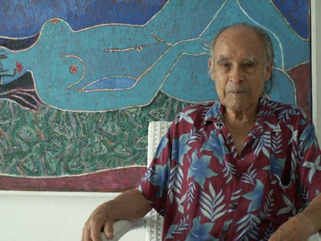 Luis Orozco, in one of his Mykonian studios.