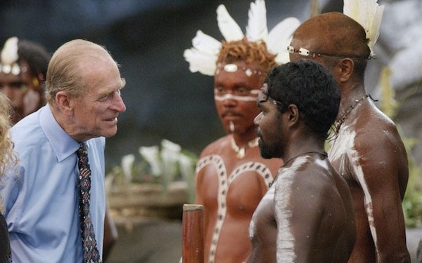 "Prince Philip asked if Aborigines ""still threw spears at each other."""