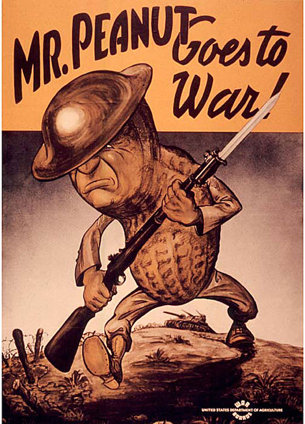 Mr. Peanut goes to war.