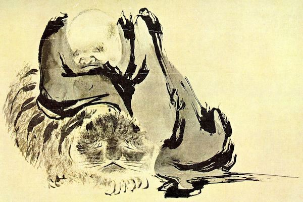"""""""Two Zen Monks Purifying Their Hearts,"""" 10th-century, Song-era Chinese painting."""
