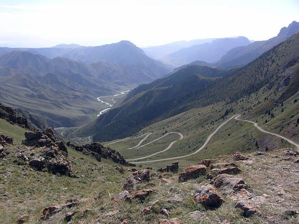 Kyrgz scenic route.