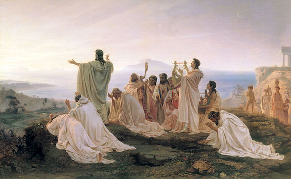 """Pythagoreans Celebrating the Rising of the Sun,"" by Fyodor Bronnikov (1827—1902)."
