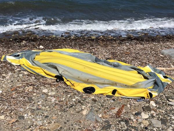 Abandoned dinghy, Kos, Greece.