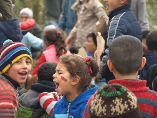 Protest at Idomeni Refugee Camp, Idomeni, Greece.