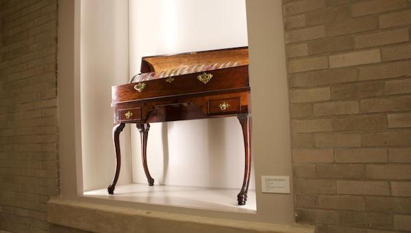 Benjamin Franklin's glass armonica, at The Franklin Institute.