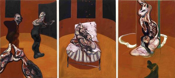 """Three Studies for a Crucifixion,"" by Francis Bacon, 1962."