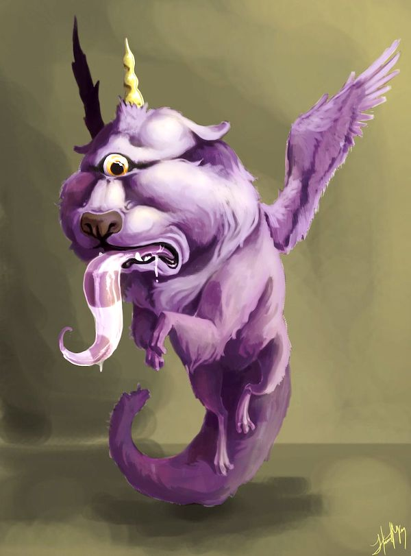Flying Purple-People Eater (Image by FootyBandit.deviantart.com on @deviantART)