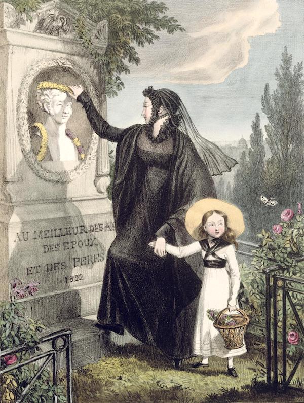 "After John James Chalon, ""Cemetery of Père Lachaise."""