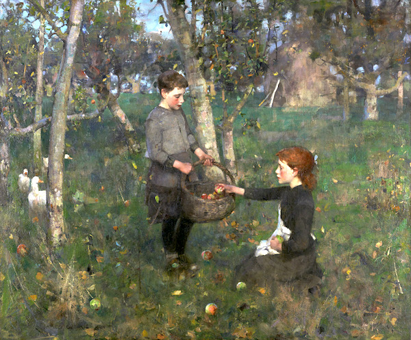 """Sir James Guthrie, """"In the Orchard."""""""