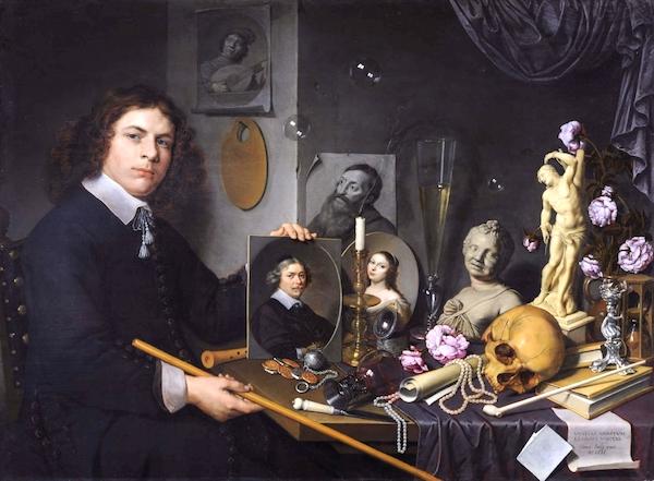 """Self-Portrait withVanitasSymbols,"" by David Bailly (1651)."