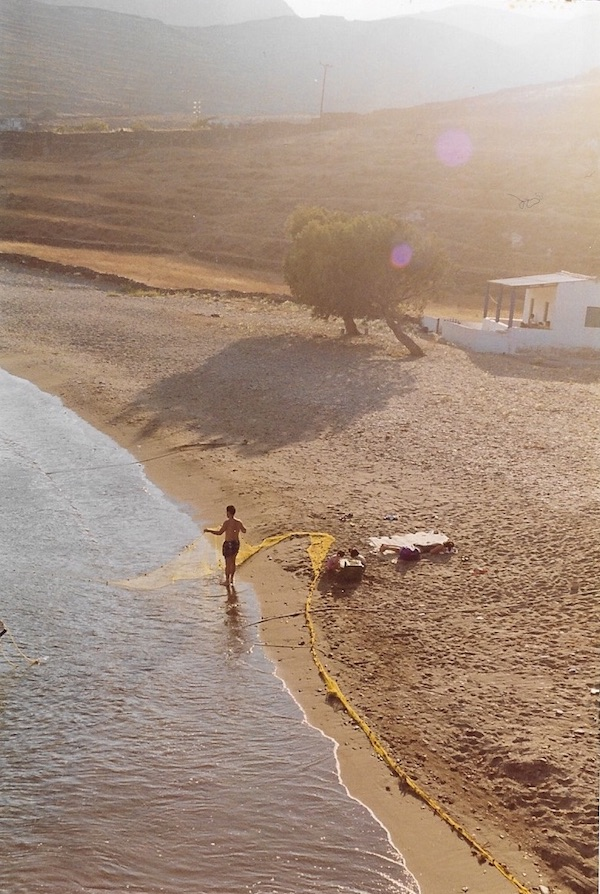 Beach below the Cyclops House, 1995.
