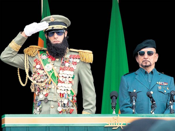 "Sacha Baron Cohen and Ben Kingsley, in ""The Dictator."""