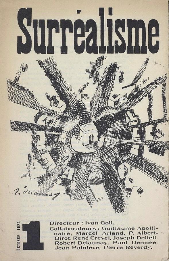 """Cover of """"Surréalisme, Manifeste du surréalisme,"""" Vol. 1(1) 1924."""