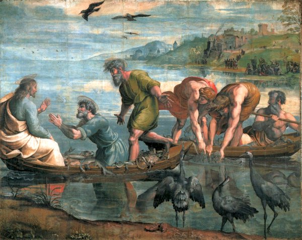 """The Miraculous Draught of Fishes,"" by Raphael, 1515/16."