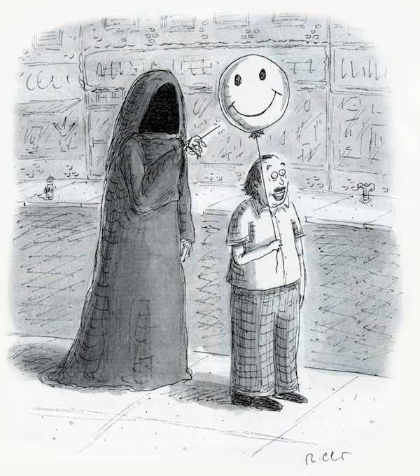 The dark and antic eye of cartoonist Roz Chast.