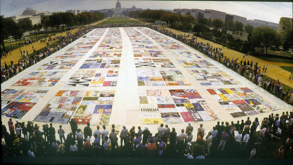 The AIDS quilt.