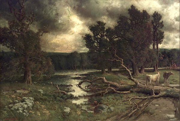 Homer Watson, near the close of a stormy day (1884).