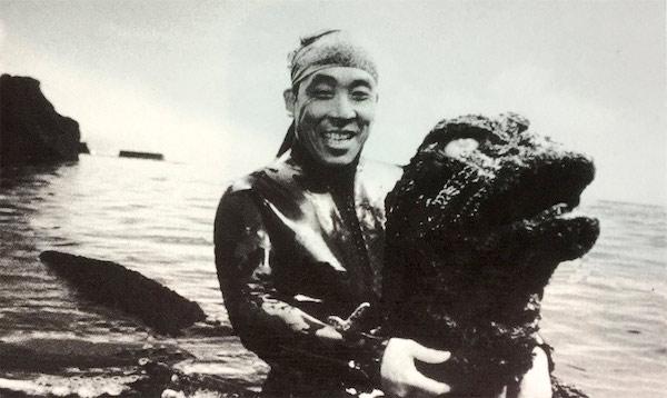Haruo Nakajima, the original Godzilla.